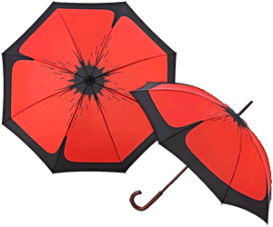 The Poppy Umbrella Roma Walking Length Style