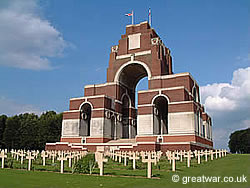 Thiepval Memorial to the Missing on the Somme Battlefields, France.