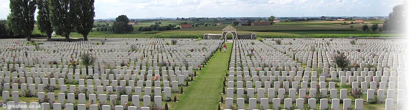 Tyne Cot British and Commonwealth Cemetery on the battlefields of the Ypres Salient, Belgium.