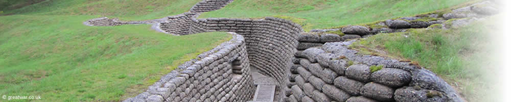 Preserved trenches at the Canadian National Vimy Memorial in France.